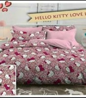 prei CVC Hello Kitty Love Motif Leopard pink