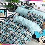Sprei katun panca - CVC motif Minnie Day Dream Toska