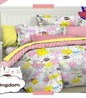 sprei motif cat kingdom