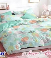 SPREI KATUN CVC MOTIF SUGAR MAPLE