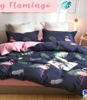 sprei katun cvc motif fancy flamingo