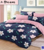 sprei katun cvc motif flower dream
